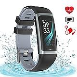 Fitness Tracker IP67 Impermeabile Smart Watch Tracker di Attività Monitor della Pressione Arteriosa della Frequenza Cardiaca Smart Band Monitor di Sonno Step Calorie Counter Orologio Android iOS