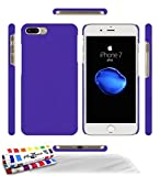 Coque Rigide Ultra-Slim APPLE IPHONE 7 PLUS [Le Pearls Premium] [Violet] de MUZZANO + 3 Films de protection écran 'UltraClear' + STYLET et CHIFFON MUZZANO OFFERTS - La Protection Antichoc ULTIME, ELEGANTE ET DURABLE pour votre APPLE IPHONE 7 PLUS