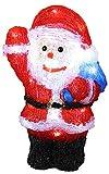 Buri LED Deko-Weihnachtsmann aus Acryl 30cm Weihnachtsdeko Weihnachtsfigur Dekofigur