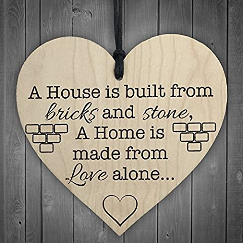 RED OCEAN NEW HOME HOUSE WARMING HANGING HEART GIFT FRIENDSHIP NEIGHBOUR COLLEAGUE SIGN