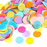Kesote Multicolor Confeti de Papel de Forma Redonda 10000 Piezas de Decoración Confeti de 8 Colores para Boda, Cumpleaños, Fiesta ...