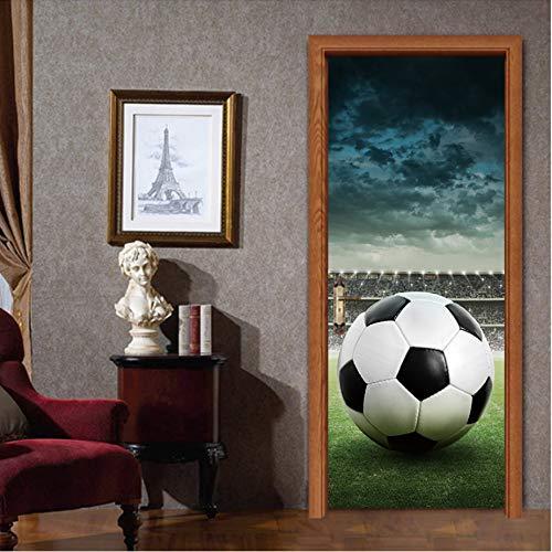 (Fußball Wasserdicht Abnehmbare Tür Aufkleber Tapete Pvc Poster Aufkleber Wohnzimmer Schlafzimmer Dekoration)