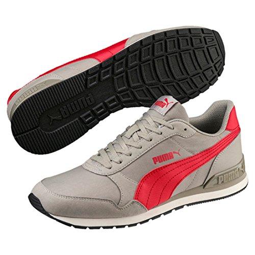 Puma Unisex-Erwachsene St Runner V2 NL Sneaker, Grau (Elephant Skin-Ribbon Red 07), 46 EU (11 UK)