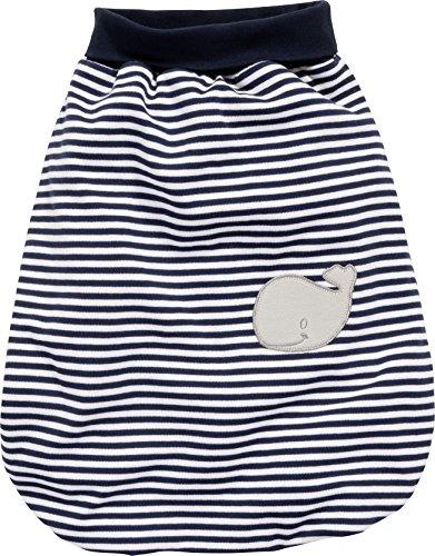 Schnizler Unisex Baby Schlafsack Strampelsack Wal mit Elastischem Umschlagbund, Oeko Tex Standard 100, Blau (Marine/Weiß 171), One size