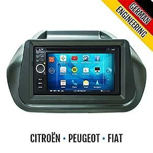 ► Alpha S700 pour Fiat Fiorino/Qubo Citroën Nemo/Bipper ◄ le puissant avec radio Bluetooth GPS WiFi Android ✔ ✔ ✔ affichage Multi-Touch 3 g ✔ ✔ navigation ✔ DVD ✔ préparation: pour TV (DVB-T) et de la radio numérique DAB), (Dash Cam-extension de vidéos numériques en temps réel les applications telles que Spotify ravitailler économique, et bien plus, sans fil Miroir iPhone: 4,5,5 cs écran miroir, système de navigation, autoradio