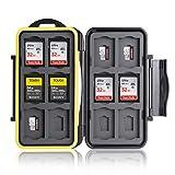 Ares Foto® MC-SDMSD24 Speicherkarten Schutzbox • Schutzhülle • Memory Card Case • Card Safe • Aufbewahrung & Transport für 12 SD und 12 Micro SD Karten - Neue Version 2020