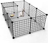 قفص شبكي معدني سهل الحمل يوضع في الاماكن الداخلية من مومو بير مناسب للحيوانات الصغيرة كخنازير غينيا والارانب و