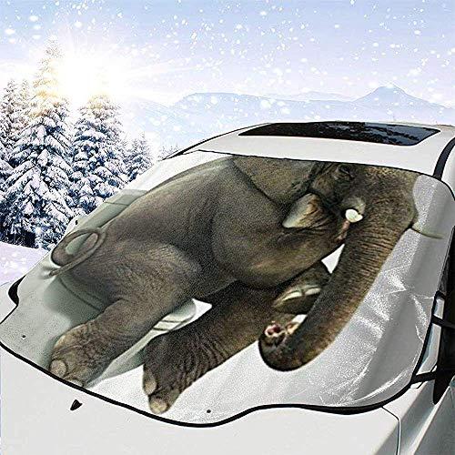 DEVP windshield sunshades Elefante Plegable Parabrisas Cubierta de sombrilla Ventana Bloques de Sombra Solar Rayos UV Protector de Visera