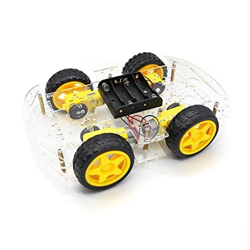 YIKESHU 4 Räder intelligentes Auto, Roboter-Intelligente Auto-Chassis-Ausrüstungen mit Geschwindigkeits-Kodierer für Arduino DIY
