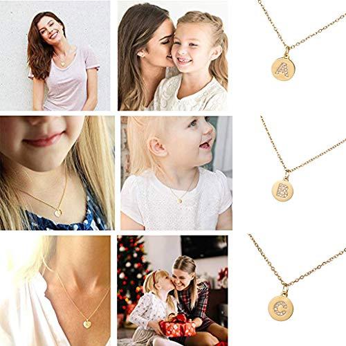 MRENVWS Winzige Gold Initial Herz Halskette-14K Gold gefüllt handgemachte zierliche personalisierte Brief Herz Choker Halskette Geschenk für Frauen Kinder Kind Halskette Schmuck