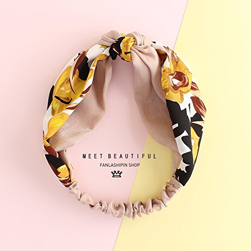 MultiKing Stirnband Temperament sweet satin color matching knotted hair band Simple wild forestry clip hair extension bandband, Q (Satin Extensions Hair)