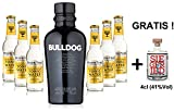 Gin Tonic Set - Bulldog Gin 0,7l 700ml (40% Vol) + 6x Fever...