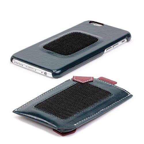 Apple iPhone 6/6s Handyhülle von Melkco mit Portmonaie iPhone 6/6s Schutzhülle Case Cover Etui | Deutscher Fachhandel Weiß/Schwarz Vintage Blau/Rot