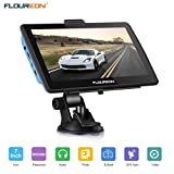 FLOUREON Europe 7 inch Touchscreen Car GPS Navigation System, 8 GB Multimedia with Map of the United Kingdom and European Lifetime Updates
