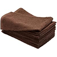 1 Dozen 15 x 25 CHOCOLATE BROWN Bleach Chemical Resistant Cotton Salon Towels by Magna
