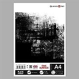 A4 Black Paper Drawing Sketch Artist Paper Pad GUMMED Book 120 gsm - 30 sheets