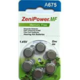 ZeniPower A675audiencia ayuda baterías 10paquetes de 6MF