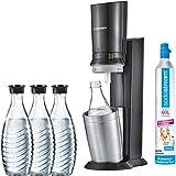 SodaStream Wassersprudler, Edelstahl, Schwarz/Titan, compact