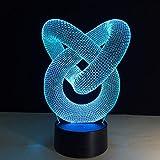 Cerchio astratto amore nodo lampadina ologramma illusione colore cambiamento decorativo luce decorazione della casa migliore luce notturna regalo