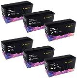 6-er Set Premium Toner Kompatibel für Brother TN-242 TN-246 DCP-9015CDW DCP-9017CDW DCP-9017CDWG1 DCP-9022CDW HL-3142CW HL-3152CDW HL-3172CDW MFC-9142CDN MFC-9332CDW MFC-9342CDW