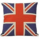 paaiter Vintage Style Union Jack Großbritannien Flagge Überwurf Kissen Fall