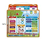 Janod- Calendario Magnetico 'Una Bella Giornata', Versione Inglese, J02888