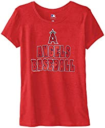 MLB Los Angeles Angels Women's 59M Tee, Red Pepper Heather, Small