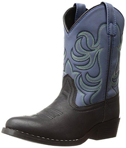 Smoky Mountain Kinder Monterey Western Cowboy Stiefel, Jungen, schwarz / blau