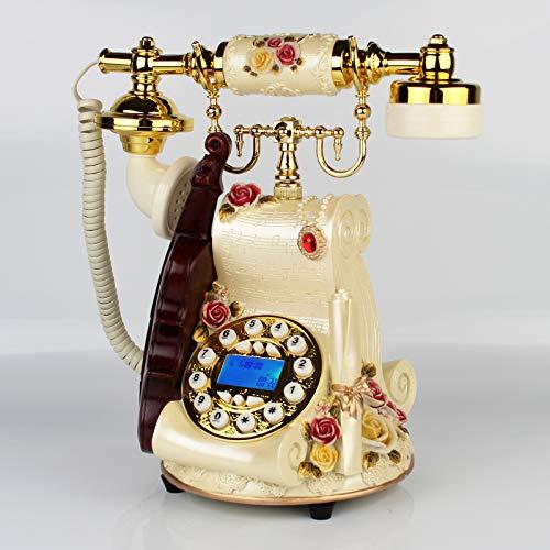 Telefon Retro Telefon Telefon Schnurgebundenländliches Antikes Telefon Dreh-Wählscheibe Mechatronics Doppel-Klingelton (Telefonleitung), Handfreie Hintergrundbeleucht Telefon Wall Plate
