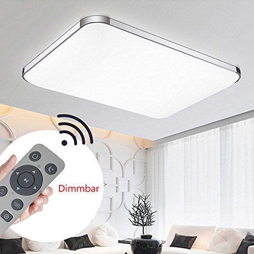 YESDA 36W 64W 72W Dimmbar LED Deckenleuchte Badleuchte Deckenlampe Flurleuchte LAMPE Licht (72W Dimmbar)