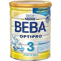 Nestlé BEBA Optipro 3 Folgemilch ab dem 10 Monat, Pulver, wiederverschließbar mit praktischer Messlöffel-Ablage, 6er Pack (6 x 800 g)