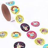 Howaf 300 Pezzi Buon Compleanno Adesivi per Bambini, Scuola Ricompensa Adesivi Etichetta per Bambini di Compleanno Bomboniere, Compleanno Regalo per Bambini