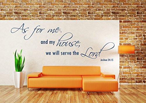 Joshua 24 v 15 NIV christliche Bibelvers Zitat, Vinyl Wandkunst Aufkleber. Wandbild, Aufkleber. Haus, Kirche, Schule Dekor, Wanddekoration