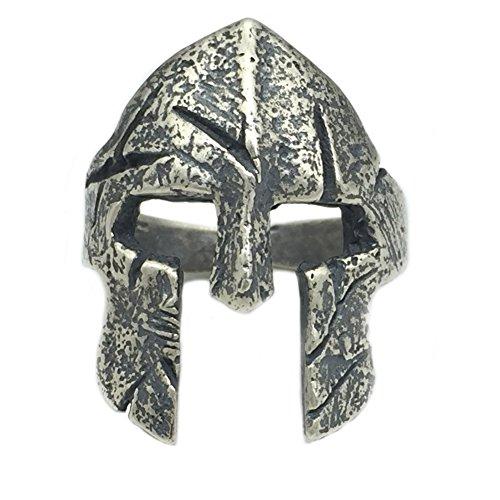 Helen de Lete Original de hombre Vintage Sparta Warrior casco 925plata de ley ajustable anillo
