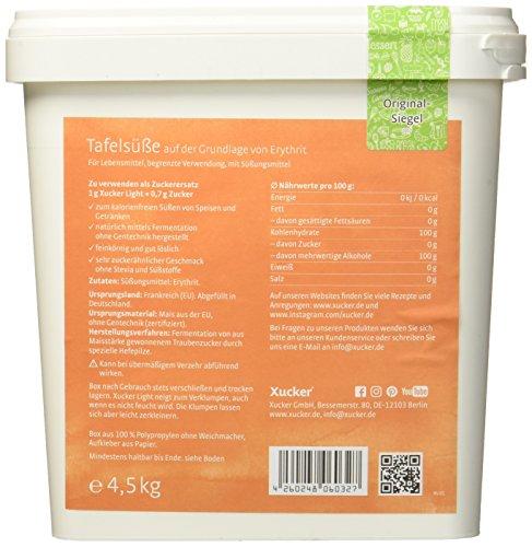 Xucker 4,5kg kalorienfreie natürliche Zuckeralternative, Erythrit aus Frankreich, Xucker light, 342 (4.5)