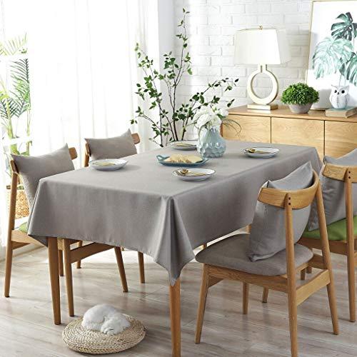 Super Anti-Flecken-Tischdecke ZYL Tischdecke Wasserdichte Baumwolle Leinen Couchtischdecke Tischdecke Stoff Rechteckige Kunst Kleine Frische Runde Tischdecke Mode Einfachen Quadratischen Tisch Verdick (Grau-holz-kaffee-tisch)