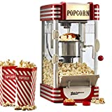 Cooks Professional Popcorn Maker Machine Retro 1950's Edition Hot Air Popper with Measuring