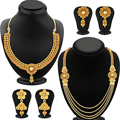 Youbella Gold Plated Combo Of 2 Traditional Jewellery Set For Women