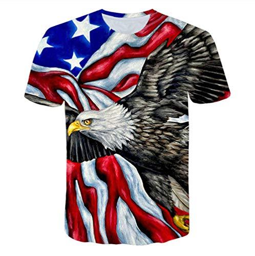 WSKY® Neue Banner T-Shirt männlich/weiblich Sinn 3D dreidimensionalen Druck gestreiften Banner Herren T-Shirt Sommer Shirt atmungsaktiv cool 3D-Mode Sommer lustige Freizeit