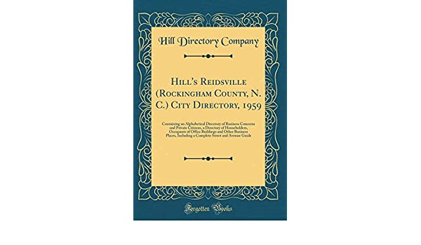 Amazon in: Buy Hill's Reidsville (Rockingham County, N  C