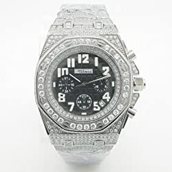 Mens Jojino Fully Iced Out Watch Aqua Master Techno Joe Rodeo Cz Super Mj-8026