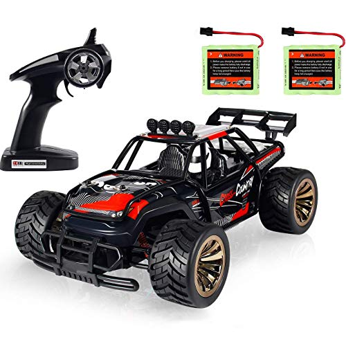 -RC-Auto Geländewagen 2,4 GHz Funkfernsteuerungsauto 2 Watt 10 MPH High Speed Racing Monster Truck 2 Akku ()