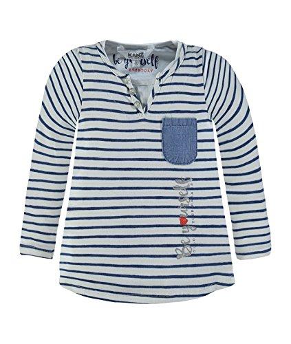 Kanz Mädchen Langarmshirts 1723011, Mehrfarbig (Y/D Stripe 0001), 98 (Mädchen Schickes Shirt)