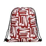 WWricotta Women Backpack Storage Bundle Rope Valentine's Day Bag Shopping Drawstring Bag (C,34X42cm)