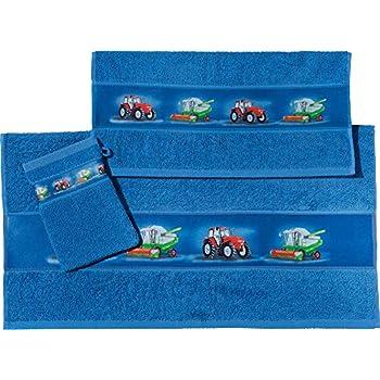 Rabe Socke Waschhandschuh 2-TLG Set f/ür Kinder 100/% Baumwolle