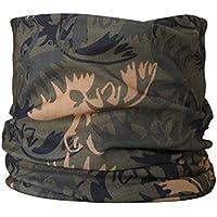 Braga para el cuello, pañuelo de microfibra multifunción, diseño de alce bosque camuflaje