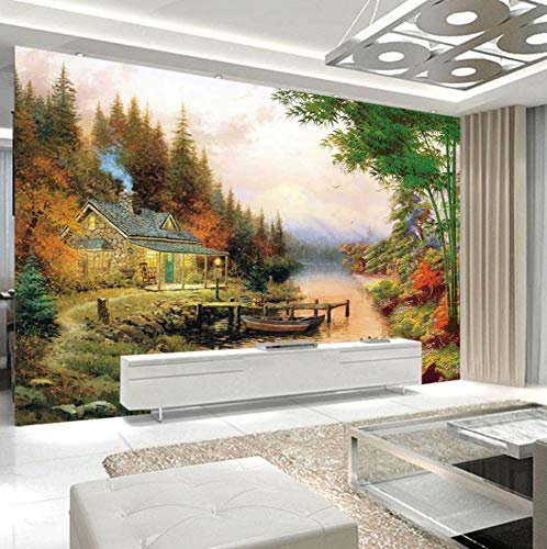 Painting Supplies & Wall Treatments Capable Custom Photo 3d Wallpaper Mural European Lake Iceberg Forest Wall Paper Living Room Sofa Bedroom Backgrounds 3d Papel De Parede