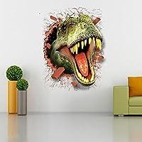 HOOLEE Muebles pegatinas Pegatinas de Pared de Dinosaurio 3D Pegatinas para Hogar Creativas Pegatinas de Pared de Animales Decorativos