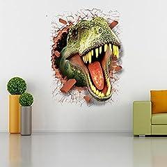 Idea Regalo - Adesivi murali dinosauri 3D Adesivi per la casa Decorazione creativa Adesivi murali animali