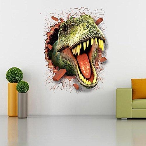 Adesivi murali dinosauri 3d adesivi per la casa decorazione creativa adesivi murali animali